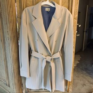 Anne Klein all weather car jacket Double breasted